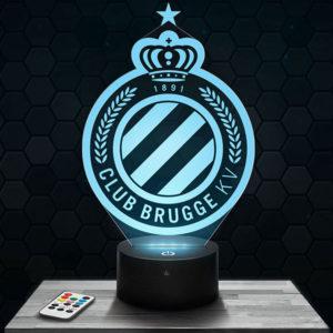 Lampe 3D Logo Club Bruges avec socle au choix !