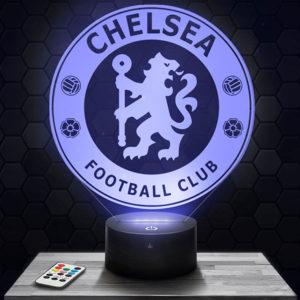 Lampe 3D Logo Chelsea avec socle au choix !