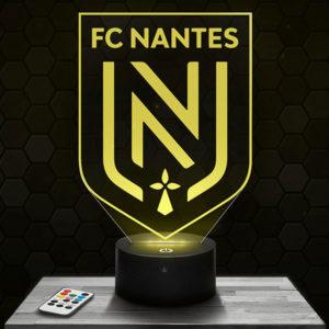 Lampe 3D Logo FC Nantes avec socle au choix !