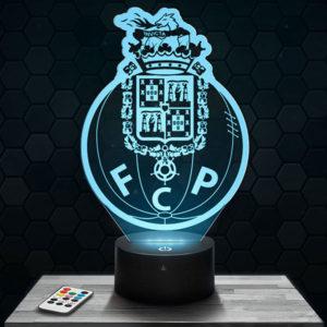 Lampe 3D Logo FC Porto avec socle au choix !