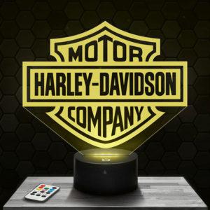 Lampe 3D Logo Harley Davidson avec socle au choix !