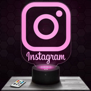Lampe 3D Logo Instagram avec socle au choix !