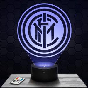 Lampe 3D Logo Inter Milan avec socle au choix !
