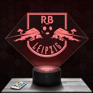 Lampe 3D Logo RB Leipzig avec socle au choix !