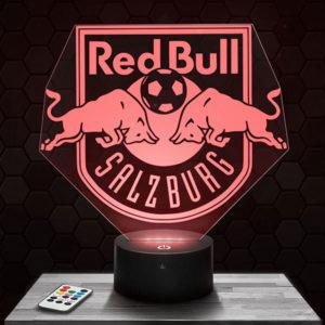 Lampe 3D Logo Red Bull Salzburg avec socle au choix !