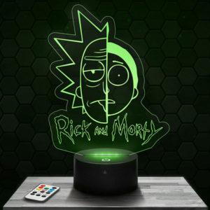 Lampe 3D Rick et Morty avec socle au choix !