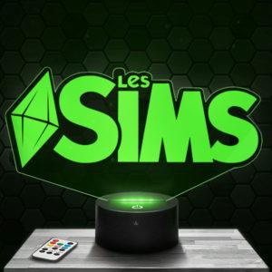 Lampe 3D logo Les Sims avec socle au choix !