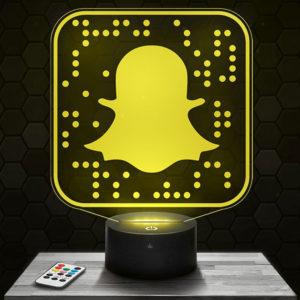 Lampe 3D Snapchat avec socle au choix !