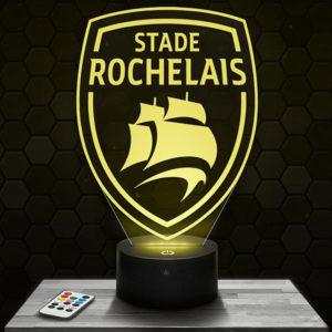 Lampe 3D Logo Stade Rochelais avec socle au choix !