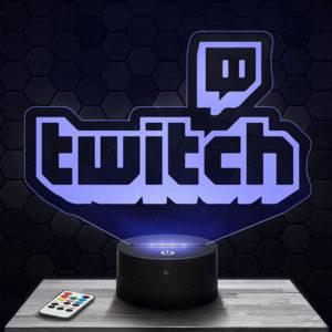 Lampe 3D Logo Twitch avec socle au choix !