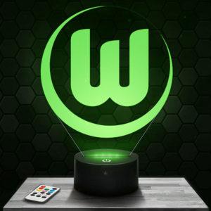 Lampe 3D Logo Wolfsburg avec socle au choix !