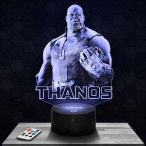 Lampe 3D Marvel - Thanos avec socle au choix !