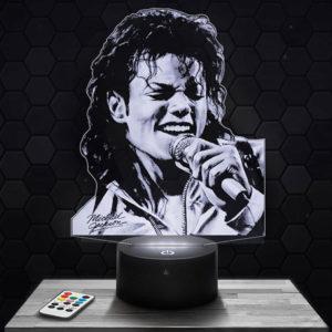 Lampe 3D Michael Jackson avec socle au choix !
