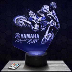 Lampe 3D Motocross Yamaha avec socle au choix !