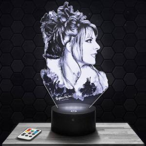Lampe 3D Mylène Farmer avec socle au choix !