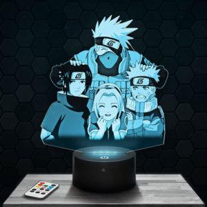 Lampe 3D Naruto - Kakashi avec socle au choix !