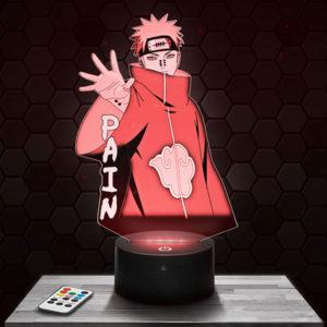 Lampe 3D Naruto - Pain avec socle au choix !