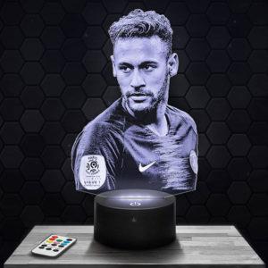 Lampe 3D Neymar PSG avec socle au choix !