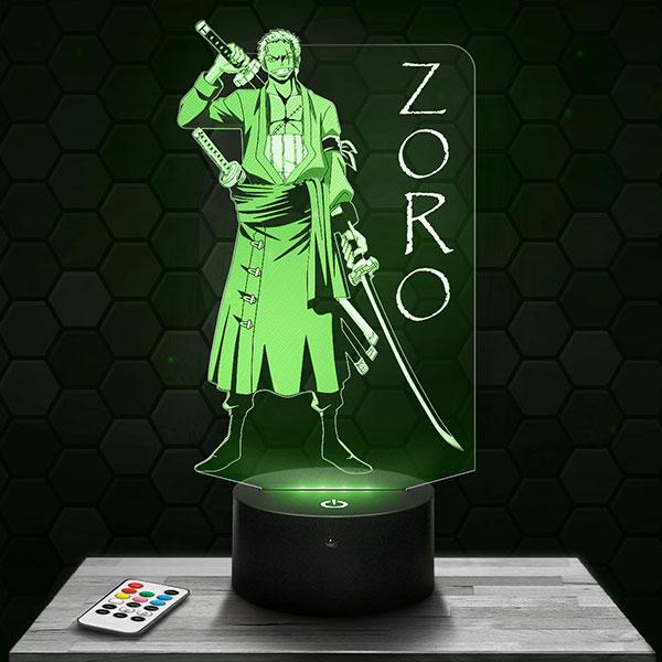 Lampe 3D Zoro - One Piece avec socle au choix !