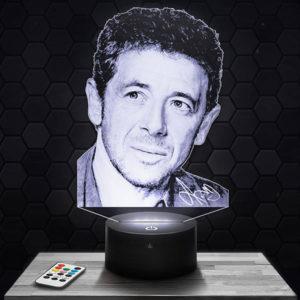 Lampe 3D Patrick Bruel avec socle au choix !