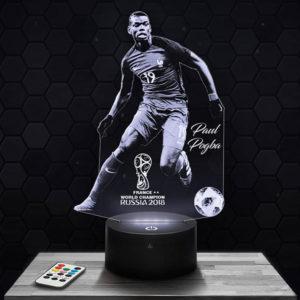 Lampe 3D Paul Pogba avec socle au choix !