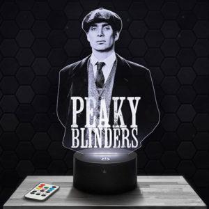 Lampe 3D Peaky Blinders avec socle au choix !