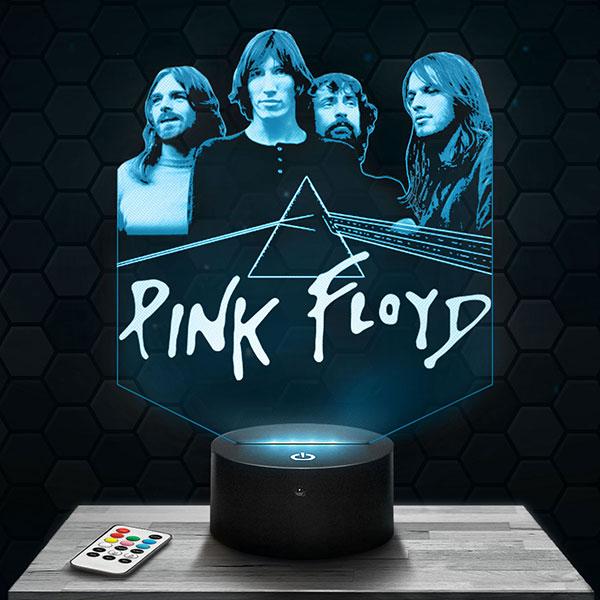 Lampe 3D Pink Floyd avec socle au choix !
