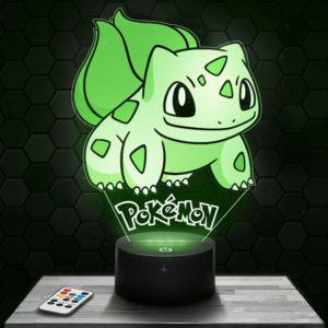 Lampe 3D Bulbizarre Pokémon avec socle au choix !