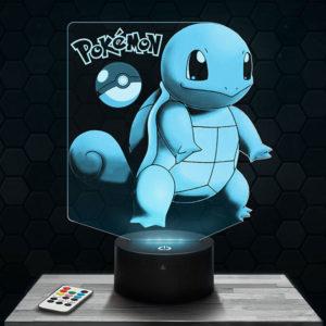 Lampe 3D Carapuce Pokémon avec socle au choix !