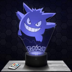 Lampe 3D Ectoplasma Pokémon avec socle au choix !