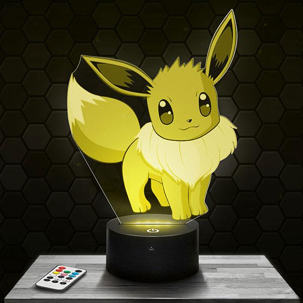 Lampe 3D Evoli Pokémon avec socle au choix !