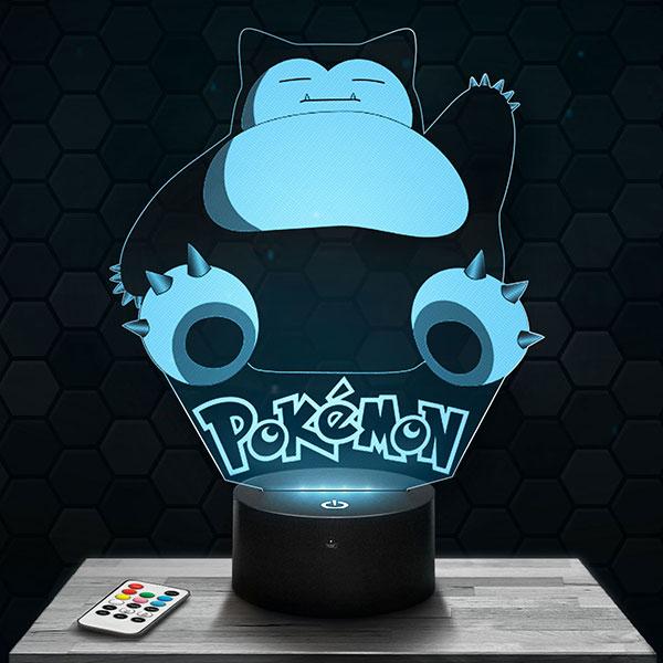 Lampe 3D Ronflex Pokémon avec socle au choix !