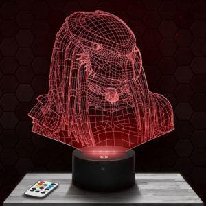 Lampe 3D Predator avec socle au choix !