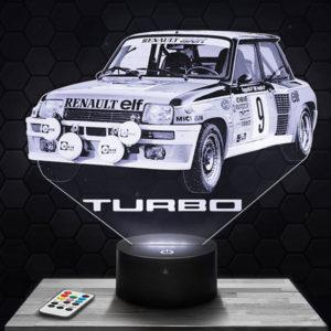 Lampe 3D R5 GT Turbo avec socle au choix !