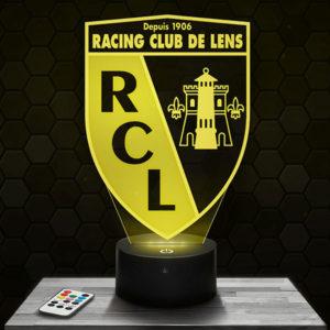 Lampe 3D Logo RCL Lens avec socle au choix !