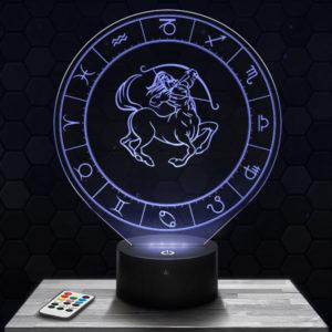 Lampe 3D Signe Astrologique - Sagittaire avec socle au choix !
