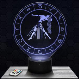 Lampe 3D Signe Astrologique - Vierge avec socle au choix !
