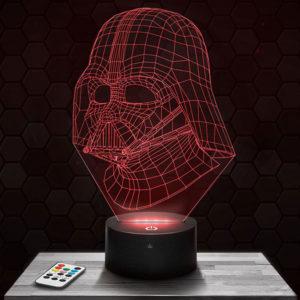 Lampe 3D Star Wars Dark Vador avec socle au choix !