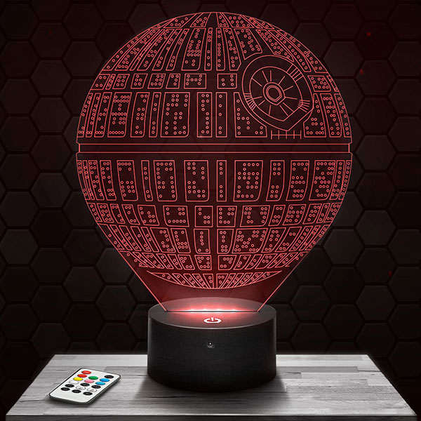 Lampe 3D Star Wars Etoile Noire avec socle au choix !