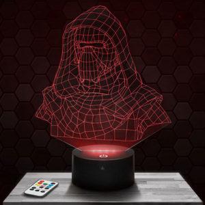 Lampe 3D Star Wars Kylo Ren avec socle au choix !