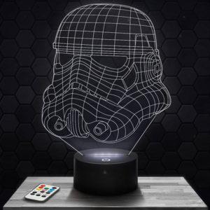 Lampe 3D Star Wars Storm Trooper avec socle au choix !
