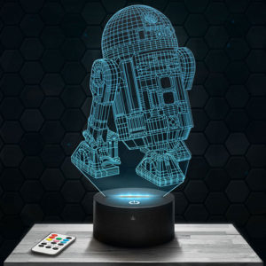 Lampe 3D Star Wars R2D2 avec socle au choix !