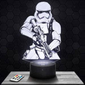 Lampe 3D Star Wars - Storm Trooper  avec socle au choix !