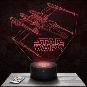 Lampe 3D Star Wars - X Wing avec socle au choix !