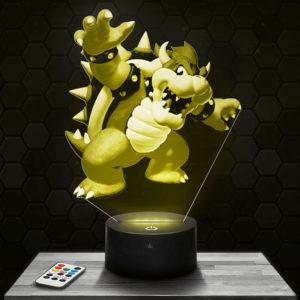 Lampe 3D Bowser - Super Mario avec socle au choix !