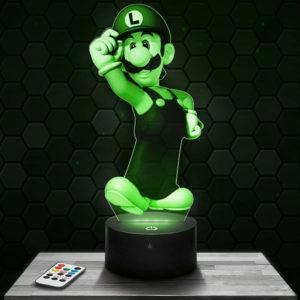 Lampe 3D Luigi - Super Mario avec socle au choix !