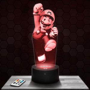 Lampe 3D Mario - Super Mario avec socle au choix !