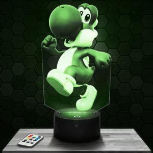 Lampe 3D Yoshi - Super Mario avec socle au choix !
