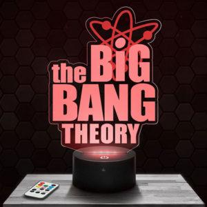 Lampe 3D The Big Bang Theory avec socle au choix !