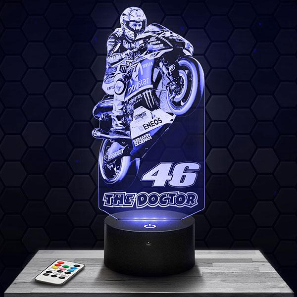 Lampe 3D Valentino Rossi 46 avec socle au choix !